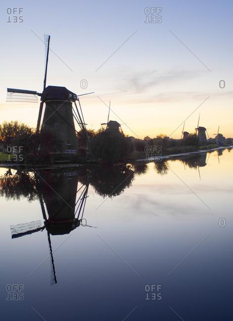 Windmills at Kinderdijk near Amsterdam