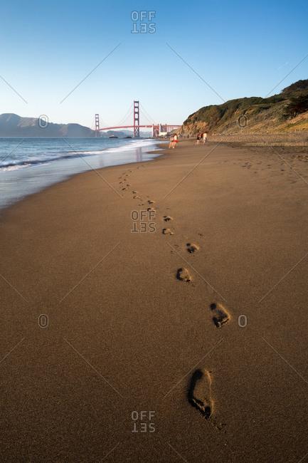 Baker Beach with view of the Golden Gate Bridge, San Francisco