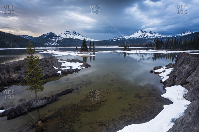 Deschutes National Forest with Mount South Sister and Mount Broken Top