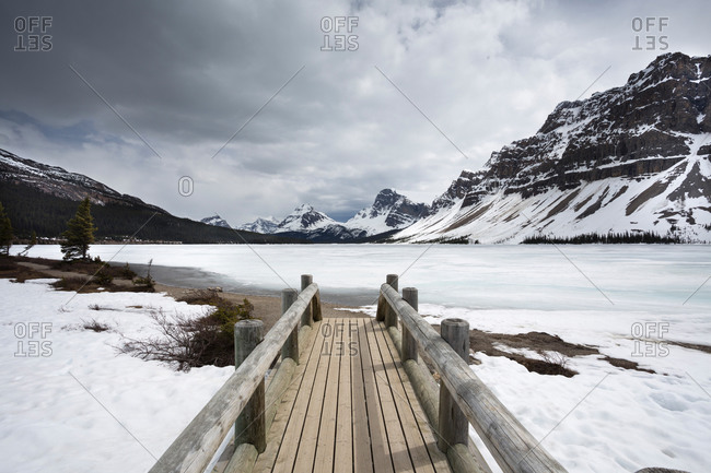 Crowfoot Mountain, Banff National Park, Icefields Parkway, Alberta, Rocky Mountains, Canada