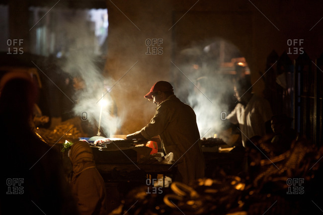 Tradesmen in the Souk in the evening