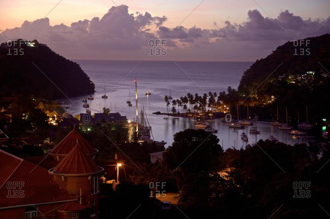 Marigot Bay, St. Lucia, Windward Islands, Lesser Antilles, Caribbean Sea