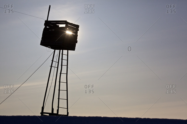 Observation tower for whalers along the coast of the Bering Sea in the Inuit settlement Uelkal