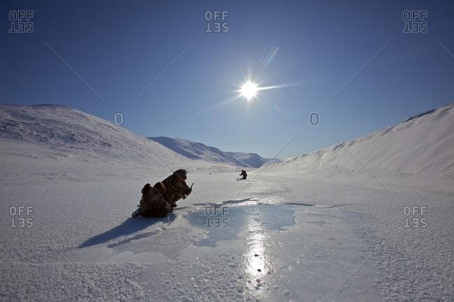 Reindeer nomads ice fishing