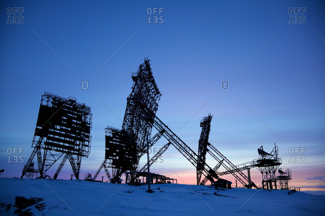 Shut down radar monitoring system from the Cold War at Uelkal