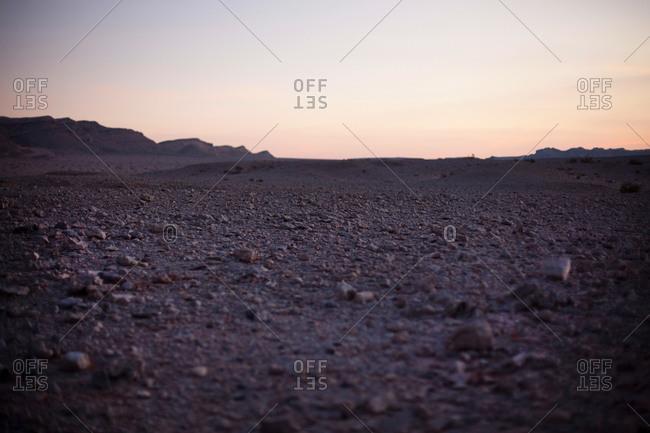 Evening atmosphere in the desert, Machtesch Ramon, Negev Desert, Israel