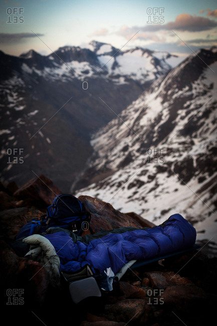 Bivouac, near Saykogel 3355 m, oetztal Alps, Tyrol, Austria