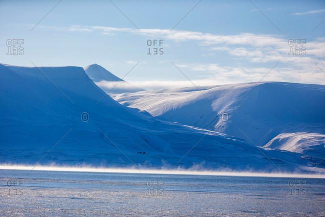 Snowy landscape in Spitzbergen