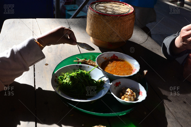Typical food on the Island of Don Khon, 1000 island, south-Laos, Laos, Asia