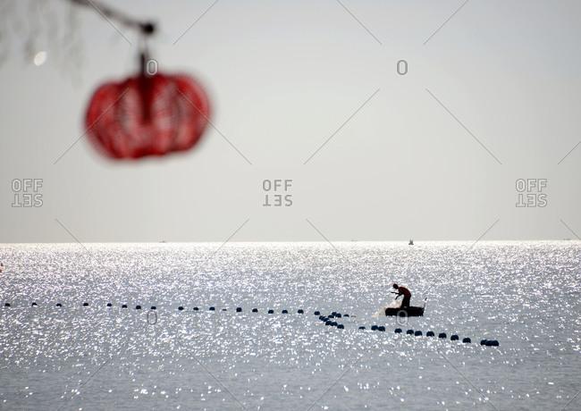 Fisherman at Longbeach on the island of Phu Quoc, Vietnam, Asia