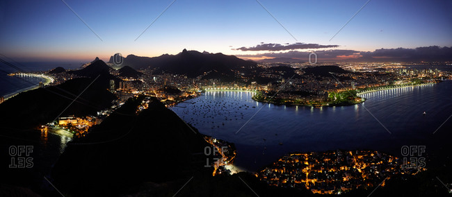 Night view from Sugar Loaf Mountain