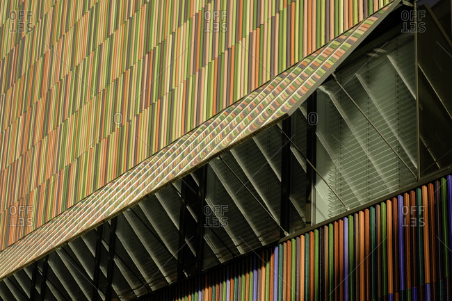 Architectural detail of a museum in Munich, Germany