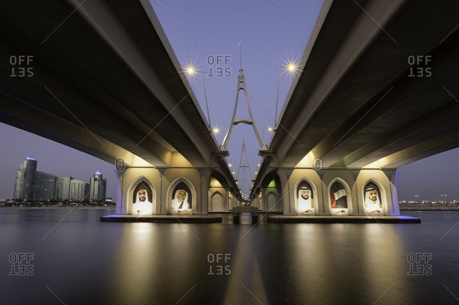 March 10, 2016: Under the Business Bay Bridge in Dubai