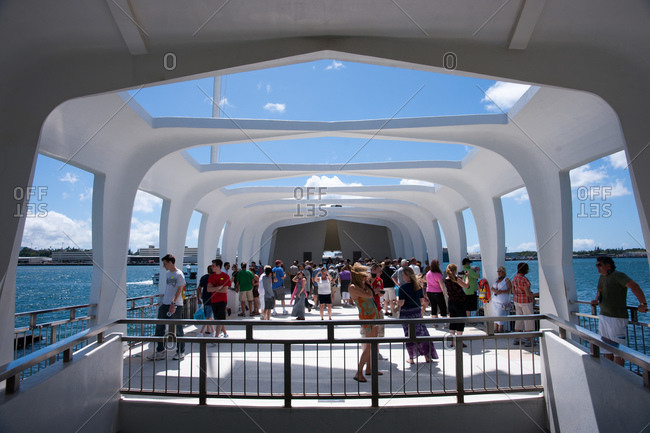 9/16/11: Visitors at the Pearl Harbor Arizona memorial