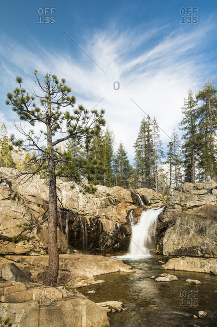 Faucherie Falls, Bowman Lake area of Nevada County, Tahoe National Forest
