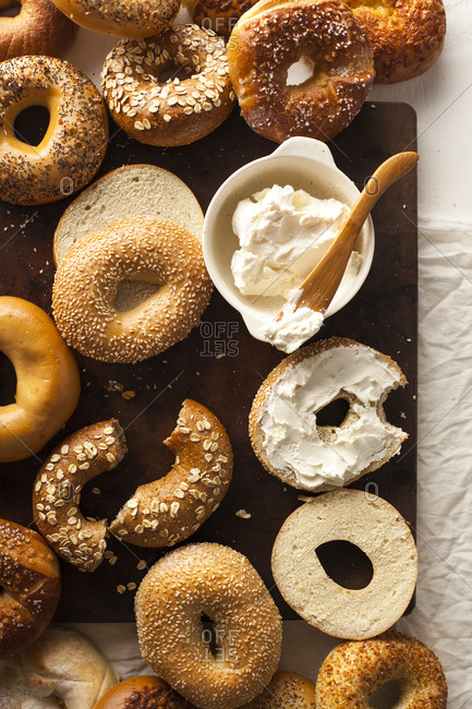 Bagels and cream cheese - Offset