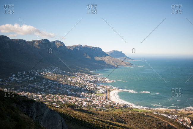 View of mountains from Lion's Head hiking trail, Cape Town