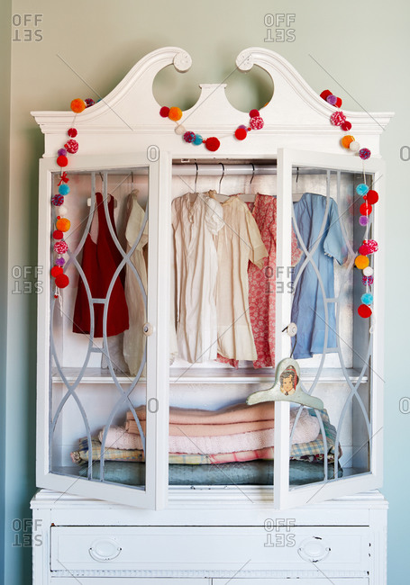 Armoire in a girl's bedroom