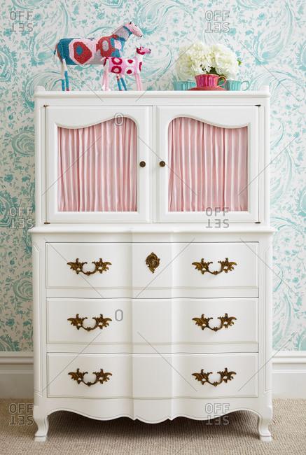 Armoire in little girl's bedroom
