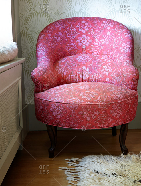 Red vintage chair