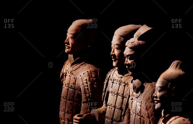 Xian, China - March 26, 2016: Group of Terra Cotta Warriors