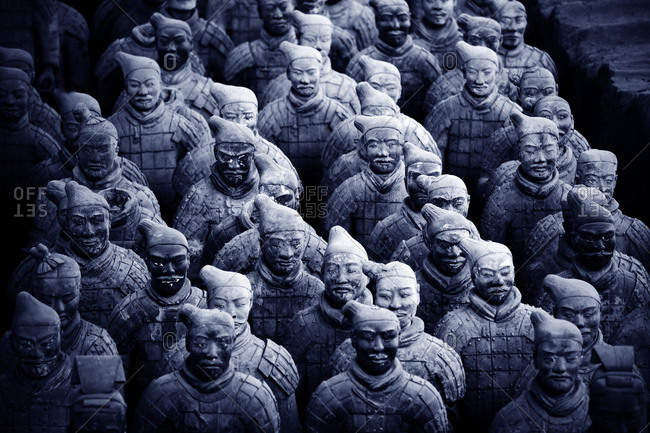 Xian, China - March 26, 2016: The Terra Cotta Army