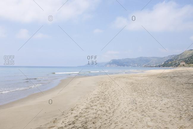 A beach in rural Italy