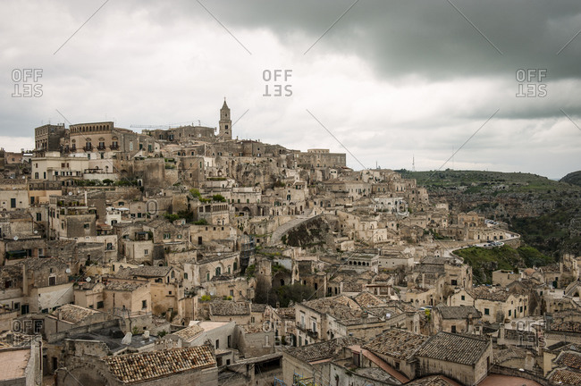 Townscape of Matera, Italy