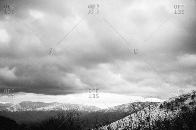 Snowy Italian mountain range
