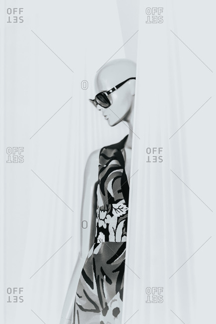 Mannequin in stylish dress, China