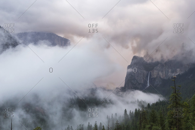 Winter storm in Yosemite Valley, Yosemite National Park; California, United States of America