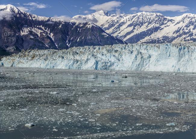 Scenic view of Hubbard Glacier, Disenchantment Bay, St. Elias Mountains, Southeast Alaska