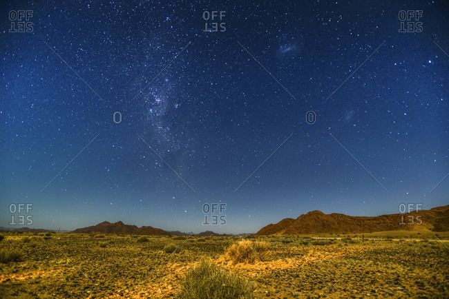 Night sky over Namibia; Sossusvlei, Namibia