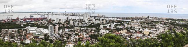 Skyline of Cartagena from La Popa Monastery; Cartagena, Columbia