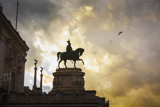 Statue of Victor Emmanuel; Rome, Italy