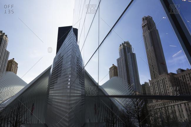 New York City, NY, USA - March 31, 2016: 9 11 Memorial