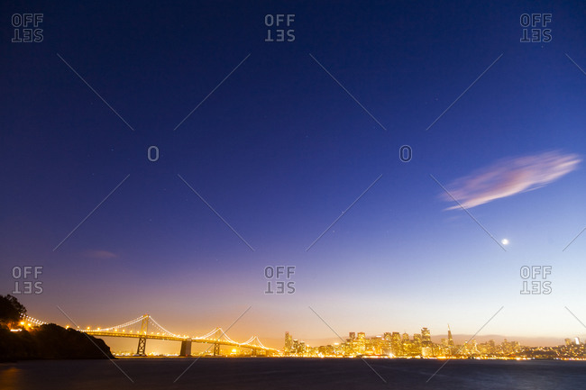 Bay Bridge of San Francisco at night