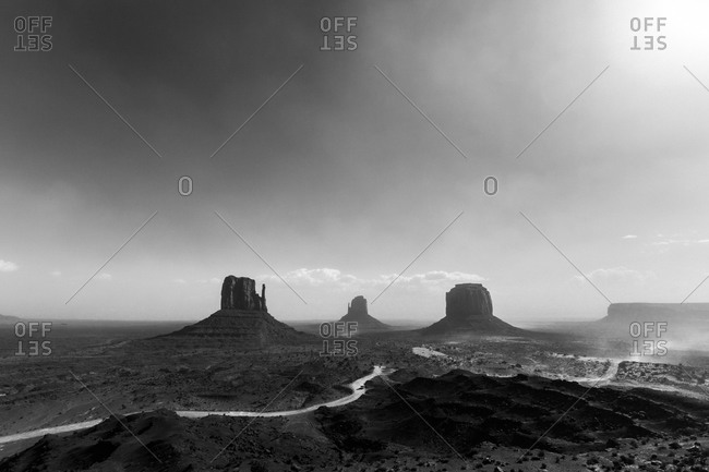 Monument Valley during a hazy day