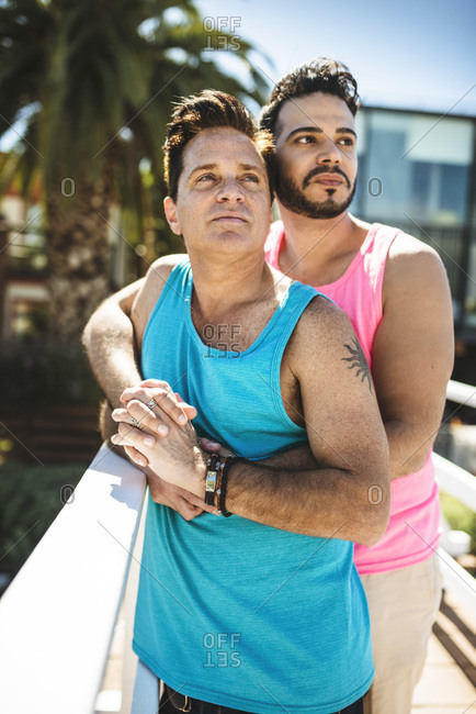 Portrait of gay couple