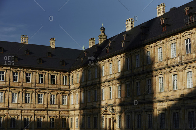 Bamberg Cathedral Square in late afternoon sunlight