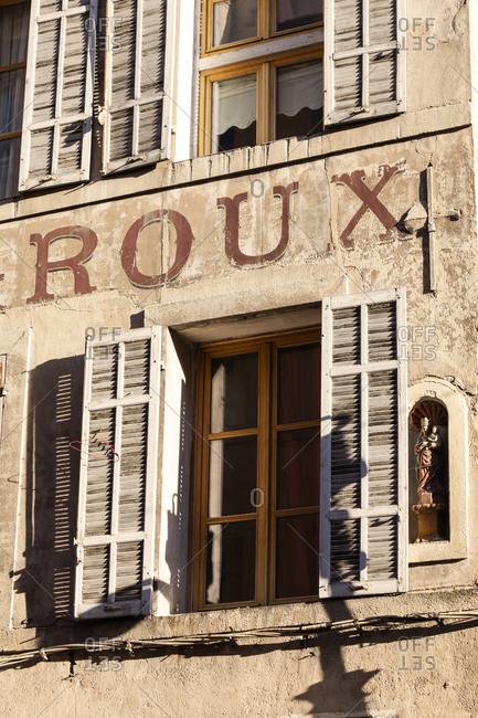 Facade of house, Aix-en-Provence, France