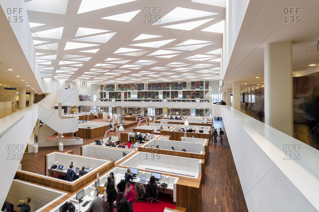Rotterdam, The Netherlands - March 15, 2016: The Medical Library at the Erasmus University Medical Center in Rotterdam, Netherlands