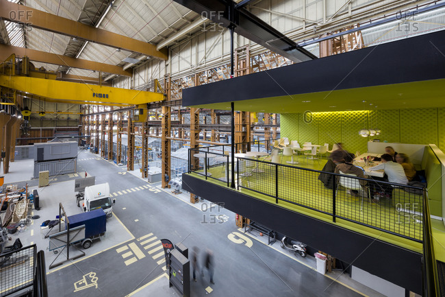 Rotterdam, The Netherlands - March 31, 2016: The former site of the Rotterdam Dry-dock Company (RDM) converted to house workspace for education, research, and corporate business clientele
