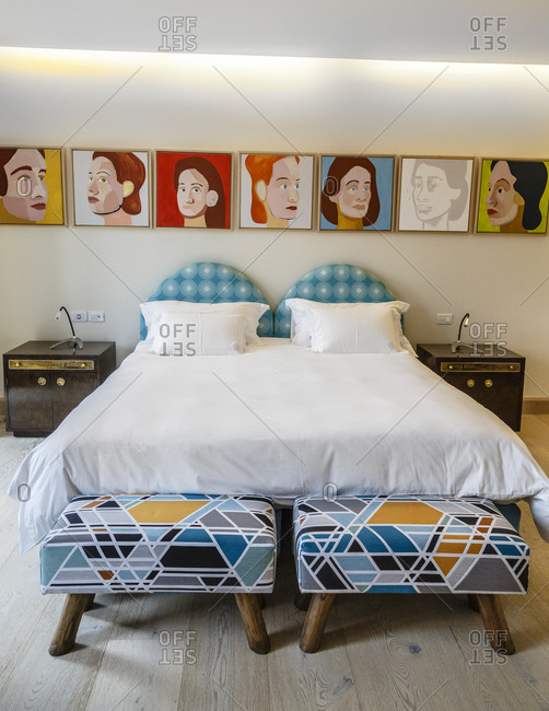 Jose Ignacio, Uruguay - September 19, 2014: The Bahia Vik Hotel in Jose Ignacio, Uruguay