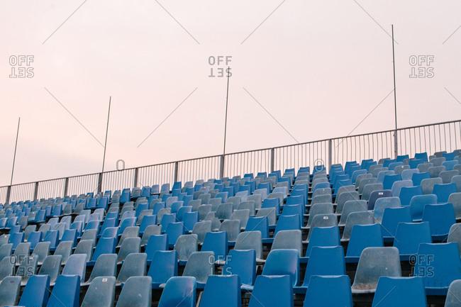 Seats for spectators at Warneton Raceway in Belgium