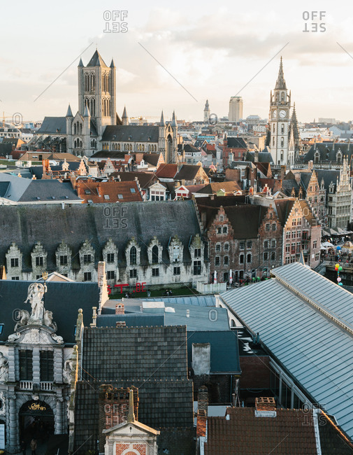 The skyline of Ghent, Belgium