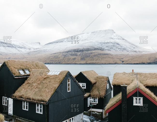 Thatched roof houses in the Faroe Islands