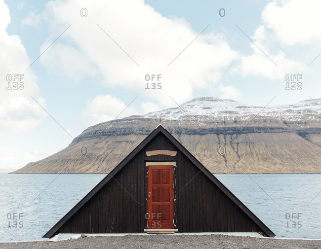 A-frame house on Streymoy Island