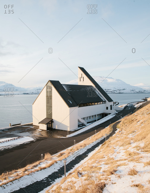 The Frederik's Church of Nes Eysturoy in Eysturoy, Faroe Islands