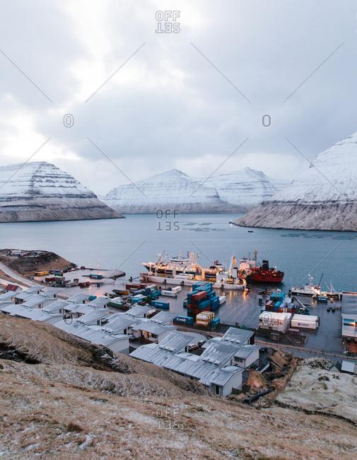 Shipping terminal in the Faroe Islands